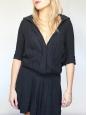 Black linen hooded dress Size 1 / 36