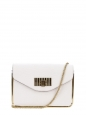 White grained leather cross body bag Retail price 1320€
