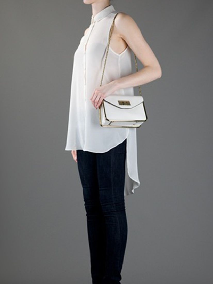 White Leather Crossbody Bag 99