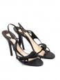 Sandales en python noir Px boutique 600€ T38,5