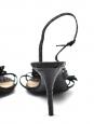 Black python leather sandals Retail price 600€ Size 38,5