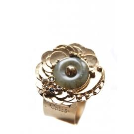 Bracelet manchette en laiton doré et pierres semi précieuses NEUF Px boutique 350€
