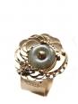 Gold brass cuff bracelet, semi precious stone heart and swarovski crystals worth 450€