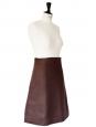High waist brown linen skirt Retail price 1000€ Size 38