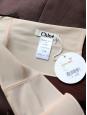 Jupe taille haute en lin marron Px boutique 1000€ Taille 38