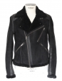 Black suede shearling jacket Retail price 2000€ Size S/M