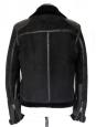 Veste shearling jacket Homme en cuir de mouton retourné noir Px boutique 2000€ Taille S/M