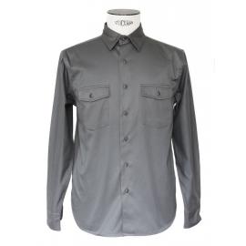 Chemise manches longues en coton gris NEUVE Prix boutique 130€ Taille M