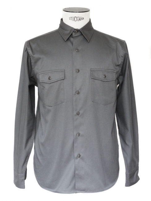 Dark grey heavy waxed cotton shirt NEW Retail price €130 Size M