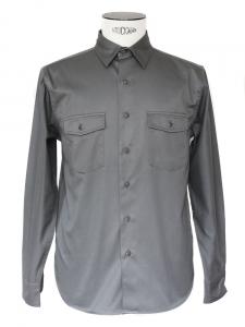 Chemise manches longues en coton gris Px boutique 130€ Taille M