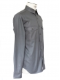 Dark grey heavy waxed cotton shirt Retail price 130€ Size M
