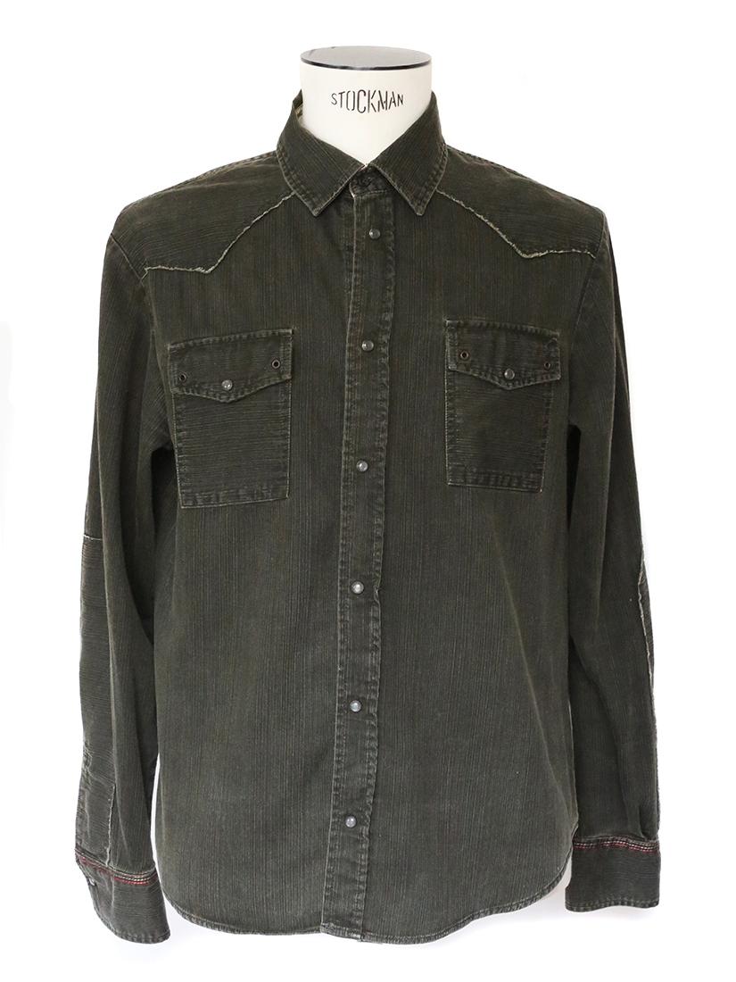 louise paris chemise homme manches longues en coton kaki taille m. Black Bedroom Furniture Sets. Home Design Ideas