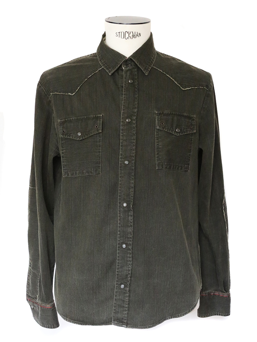 Louise Paris Khaki Green Cotton Long Sleeved Shirt Size M