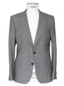 Blazer tailored-fit en laine prince de galles gris et noir NEUF Px boutique 900€ Taille M
