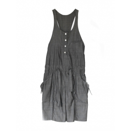Dark grey cotton playsuit NEW Retail price €1000 Size 36/38