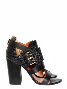 """Sandales à talon Vittorias en cuir """"galuchat"""" Px boutique $880 Taille 39"""