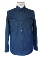 Navy blue denim men's shirt NEW Retail price €180 Size M