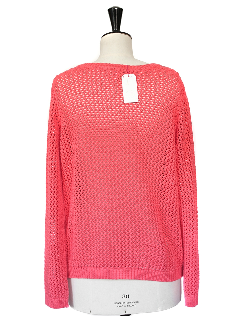 Louise paris pull des petits hauts en maille de coton rose vif neuf taille 38 - Des petits hauts paris ...