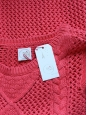 DES PETITS HAUTS bright pink heavy knit sweater NEW Size 38