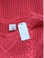 Pull DES PETITS HAUTS en maille de coton rose vif NEUF Taille 38