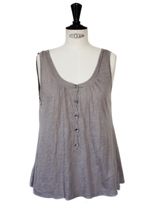 AMERICAN VINTAGE purple grey cotton tank top Size M
