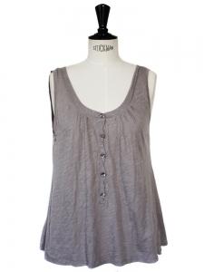 AMERICAN VINTAGE purple grey cotton tank top Size M