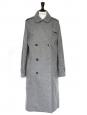 Medium grey wool long oversize coat Retail price 2000€ Size 38/40