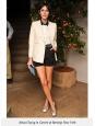 Veste blazer en soie blanche écrue Px boutique 630€ Neuve Taille 40