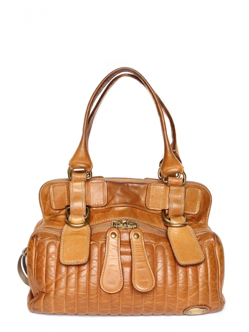 Louise Paris - CHLOE BAY honey gold leather shoulder bag 6095d731ff