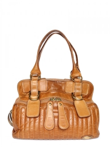 Sac BAY medium en cuir camel miel