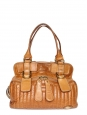 BAY honey gold leather shoulder bag
