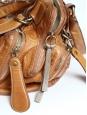 BAY honey gold leather shoulder bag