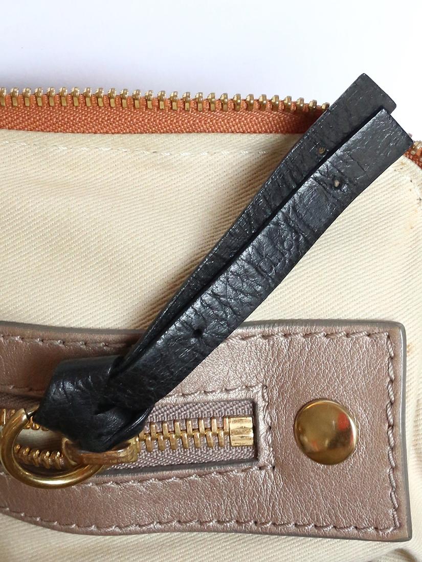 Louise Paris Chloe Bay Honey Gold Leather Shoulder Bag