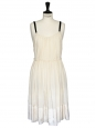 Cream silk chiffon evening or wedding dress Size 38/40