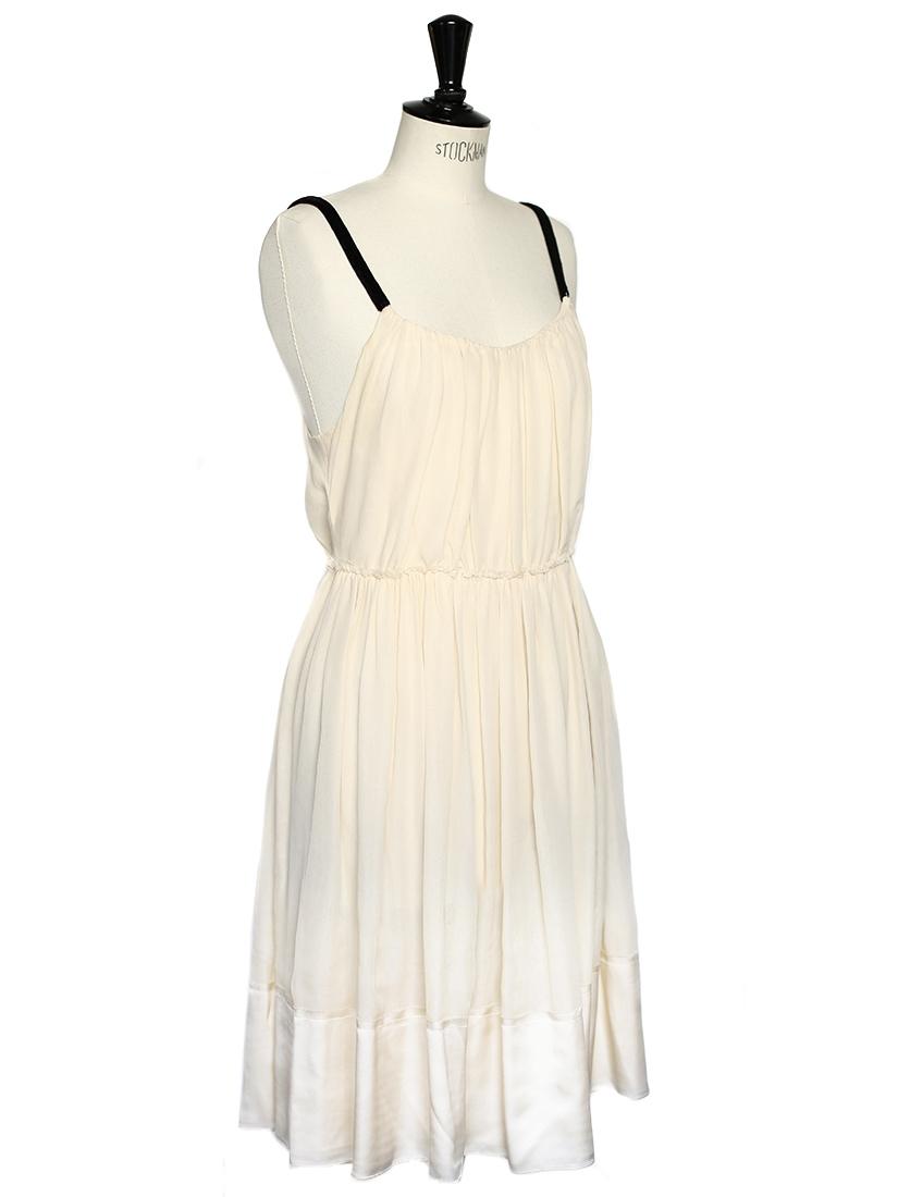 Louise paris chloe cream silk chiffon evening or wedding for Silk chiffon wedding dress