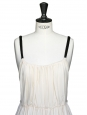 Cream silk chiffon evening or wedding dress Size 38/40