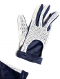 Blue and white gloves Size 7