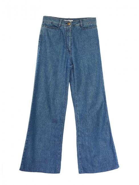 Jean taille haute seventies pates d'eph bleu moyen Px boutique 350€ Taille 36