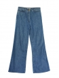 High-rise blue cotton wide-leg / flared jeans Retail price 350€ Size 36