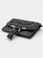 Portefeuille porte monnaie Marcie en cuir noir et studs doré