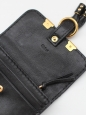 Marcie black leather and gold studs coin purse Retail price $350