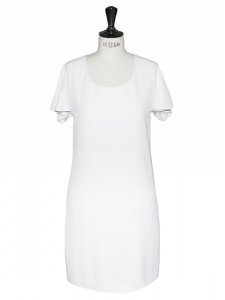 Open back white silk dress Retail price 1450€ Sz 38