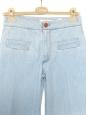 Jean taille haute évasé en coton bleu clair Px boutique 350€ Taille 36