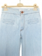 Light blue cotton high waist flared jeans Retail price 350€ Size 36