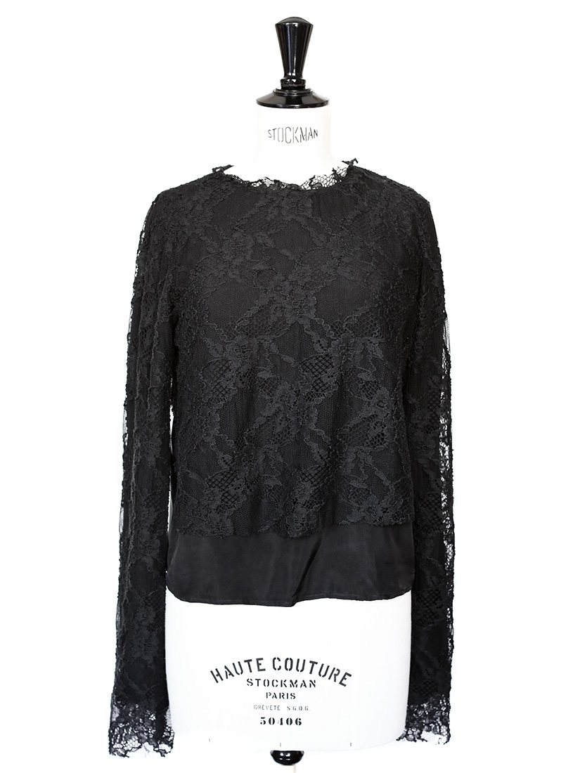 louise paris top coming soon en dentelle et soie noir neuf taille 36. Black Bedroom Furniture Sets. Home Design Ideas