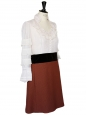 White cotton organza, black velvet and brown cotton pique REtail price 2000€ Size 40