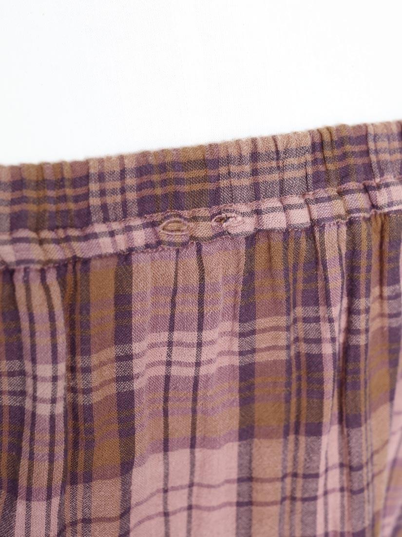 Louise paris vanessa bruno robe bustier en coton imprim e cossais marron et prune et vieux - Chambre vieux rose et marron ...