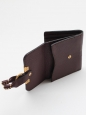 Portefeuille wallet CHLOE carré MARCIE en cuir chocolat Px boutique 350€