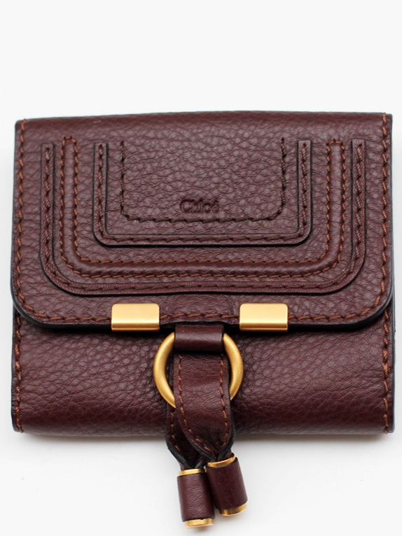 b985f81b Louise Paris - CHLOE Marcie chocolate brown grained leather square ...