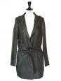 Manteau veste en lin vert foncé NEUF Px boutique 1100€ Taille 40
